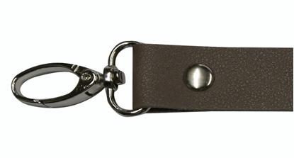 картинка кожаная фурнитура для сумок и рюкзаков, ручка длинная с карабинами Marmelatta , цвет: капучино