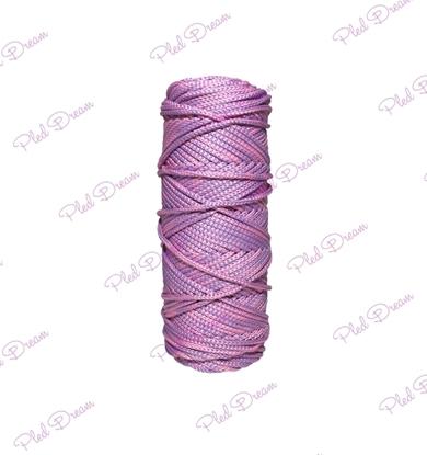 картинка полиэфирный шнур 3мм в наличии, шнур для вязания и макраме купить , цвет: сиренево-розовый меланж