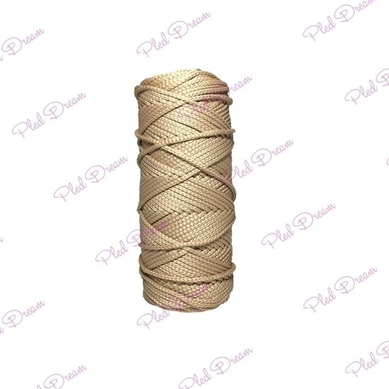 картинка шнуры для вязания купить с доставкой, полиэфирный шнур для плетения и макраме 3мм , цвет: бежевый