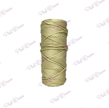 картинка шнур полиэфирный для вязания сумки, шнур для вязания авоськи, цвет: лен