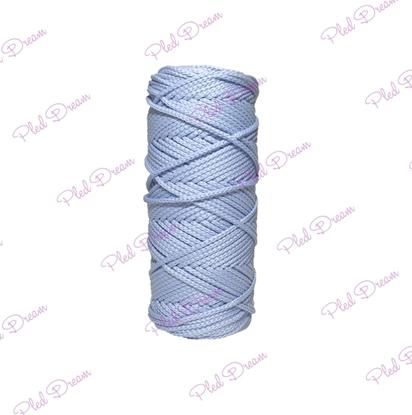 картинка бледно-голубой полиэфирный шнур для вязания и макраме купить в Москве,  быстрая доставка