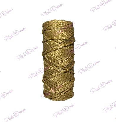 картинка заказать шнур полиэфирный 3 мм для вязания авоськи, шнур для вязания корзин и сумок, цвет: оливковый