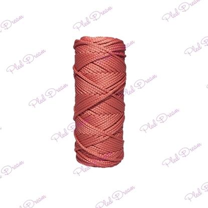 картинка вяжем из полиэфирного шнура, купить шнур в Москве,  по выгодной цене , цвет: коралл