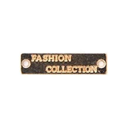 картинка бирка -лейбл пришивная металл, цвет: золото , бирка для рукоделия , для вязаных изделий Hand Made