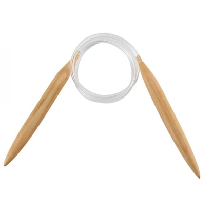 картинка спицы круговые №15  для вязания  из толстой пряжи, спицы деревянные круговые в наличии в Москве купить