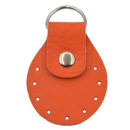 картинка фурнитура из экокожи  для вязаных сумок в наличии купить в интернет-магазине по выгодной цене, цвет: папайя
