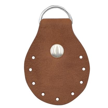 картинка пришивные полукольца для вязания из трикотажной пряжи  сумок  и рюкзаков, недорого в наличии в интернет-магазине с доставкой, цвет: фундук, коричневый