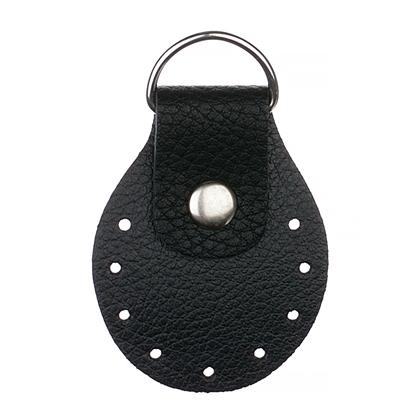 картинка фурнитура кожаная для вязания сумок и рюкзаков из пряжи и шнура , заказать в интернет-магазине с доставкой, цвет: черный