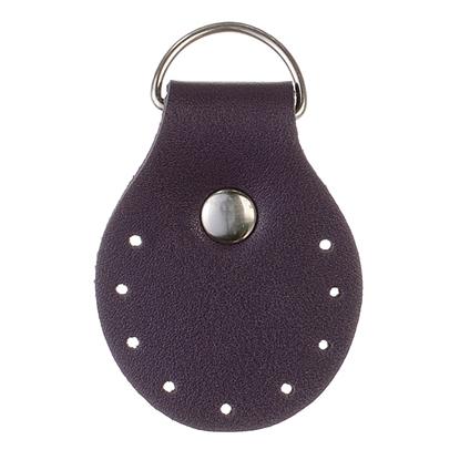 картинка пришивные полукольца из экокожи для изготовления сумок и рюкзаков из трикотажной пряжи и шнура в наличии по выгодной цене, цвет: слива