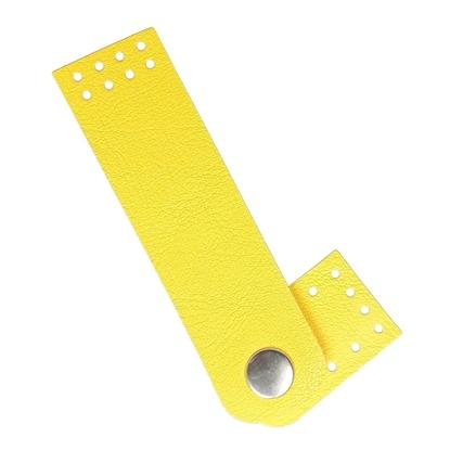 картинка пришивная застежка на кнопке для вязаной сумки в наличии в интернет-магазине , цвет: желтый лимон