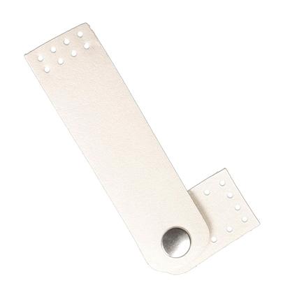 картинка пришивная застежка на кнопке из экокожи для вязаных сумок купить в  Москве по выгодной цене, цвет: перламутр
