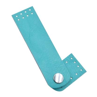 картинка пришивная застежка на кнопке для вязаных сумок из трикотажной пряжи в наличии по выгодной цене   цвет: бирюзовый, мальдивы