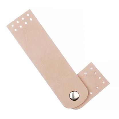 картинка пришивная застежка на кнопке из экокожи для вязаных сумок в наличии по выгодной цене заказать с доставкой по России, цвет: миндаль