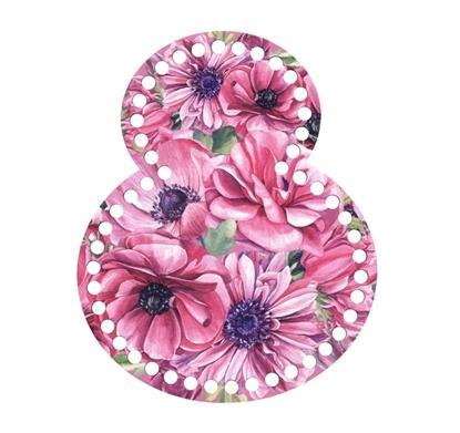 картинка донышко для вязания  8 марта подарок для подруги вязаная корзинка из трикотажной пряжи на 8 марта