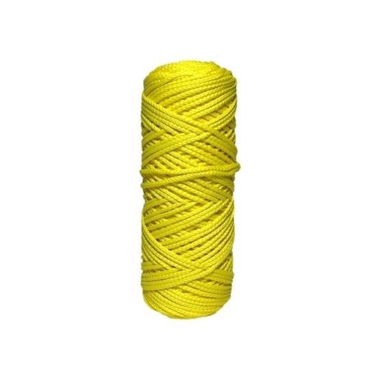 картинка вяжем из полиэфирного шнура 3мм, купить шнур в Москве  по выгодной цене , цвет: лимон в наличии с доставкой