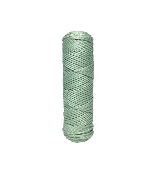 картинка купить в Москве полиэфирный шнур для вязания крючком цвет мятный серо-зеленый