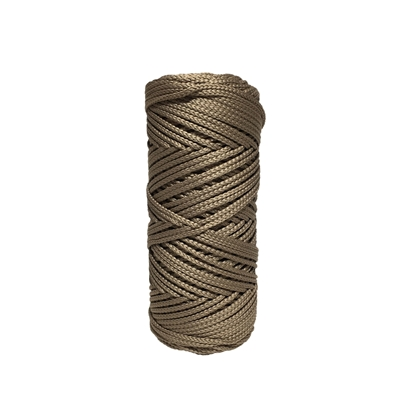 картинка шнур полиэфирный 3мм в наличии купить недорого цвет светло-коричневый капучино с доставкой