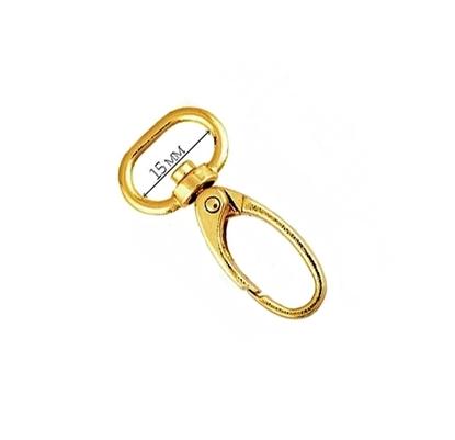 картинка фурнитура для вязаных сумок, карабин для ремешка цвет: розовое золото купить недорого
