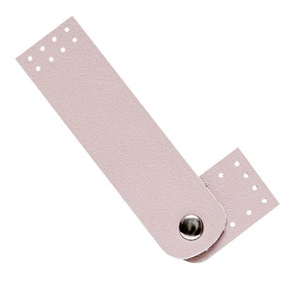 картинка кожаная застежка-кнопка для сумки из шнура, фурнитура из экокожи для вязаной сумки недорого с доставкой