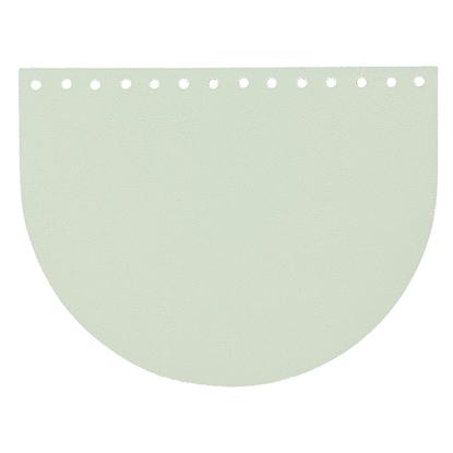 картинка крышка -клапан из экокожи для вязаной сумки в наличии , цвет: мята , по выгодной цене