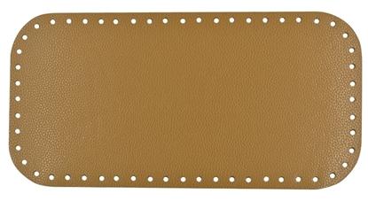 картинка кожаное дно для вязаной сумки торбы, фурнитура Marmelatta цвет: мед