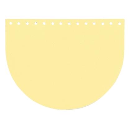 картинка фурнитура из экокожи для вязания сумок из трикотажной пряжи и шнура, крышка для сумки цвет: банан в наличии с доставкой