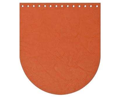 картинка крышка-клапан для рюкзака , цвет яркий модный папайя, купить с доставкой по России