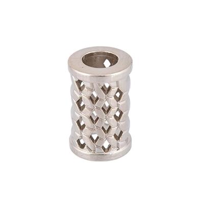картинка наконечник  для шнуров и пряжи   металлический цвет: никель  в наличии
