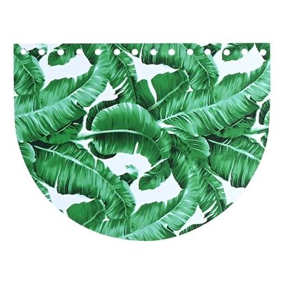 картинка фурнитура  Marmelatta крышка клапан овал для вязаной сумки , лимитированная серия с принтом , цвет: тропики