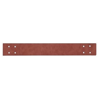 картинка ручки их экокожи для вязаной  интерьерной корзины, цвет: коричневый, фундук