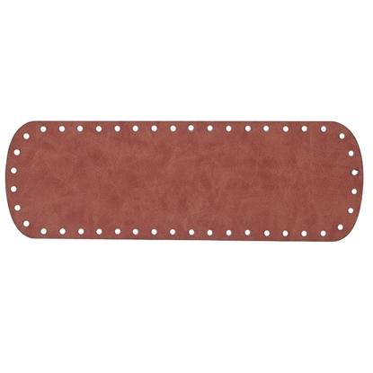 картинка донышко для вязаной сумки из экокожи 10х30см в наличии, цвет: коричнеый, фундук
