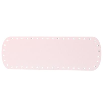 картинка дно из экокожи для вязаной сумки из трикотажной пряжи, цвет: пудра, нежно-розовый