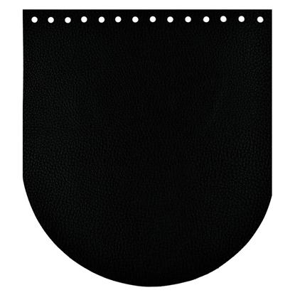 крышка для вязаного рюкзака из экокожи цвет черный в наличии недорого