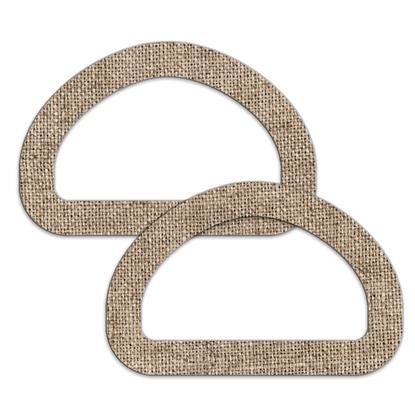 картинка комплект деревянных ручек для вязаной летней сумки и авоськи, принт лен