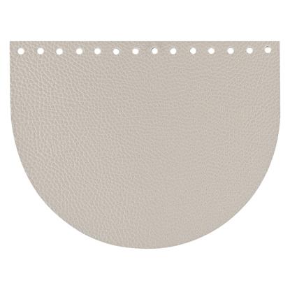 картинка фурнитура из экокожи крышка-клапан  цвет: лен для вязаной сумки из трикотажной пряжи  в наличии