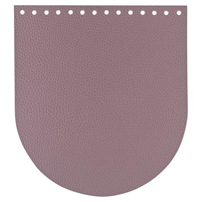 картинка фурнитура из экокожи для вязанных рюкзаков, крышка кожаная для рюкзака из шнура, цвет: черничный мусс