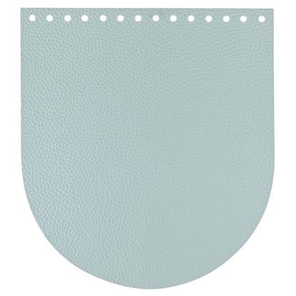 картинка кожаная крышка для вязаного рюкзака, цвет: пыльная мята по лучшей цене