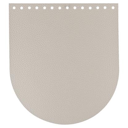 картинка фурнитура из экокожи Marmelatta (Мармелатта) для рюкзаков из трикотажной пряжи и шнура, цвет: светло-кремовый (лен)