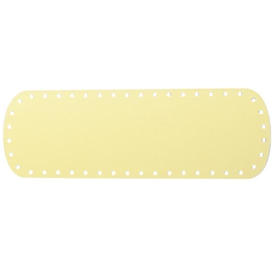 картинка донышко из экокожи для вязания сумки крючком, размер: 10х30см  цвет: светло-желтый, банан