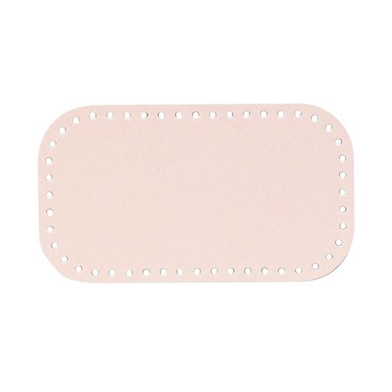картинка донышко  12х21см из экокожи для маленькой вязной сумки из шнура , в наличии цвет: пудра, светло-розовый