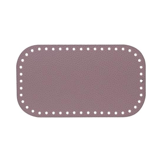 картинка дно из экокожи для вязания сумок крючком из пряжи и шнура, в наличии цвет: черничный мусс, размер 12х21см