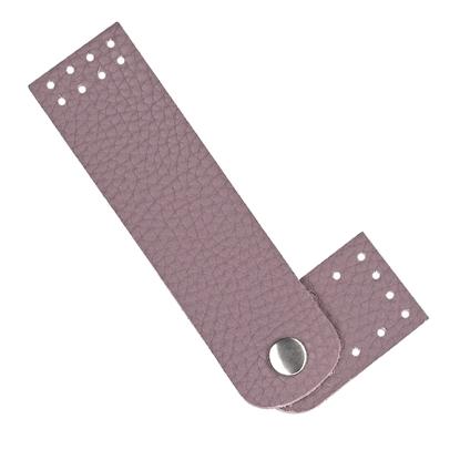 картинка кожаная застежка-кнопка пришивная для вязаных сумок и авосек, цвет: черничный мусс