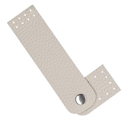 картинка пришивная кнопка-застежка из экокожи для сумки ракушки цвет: лен