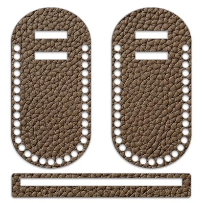картинка фурнитура заготовка из фанеры для вязания летних сумок на каркасе, цвет: капуччино
