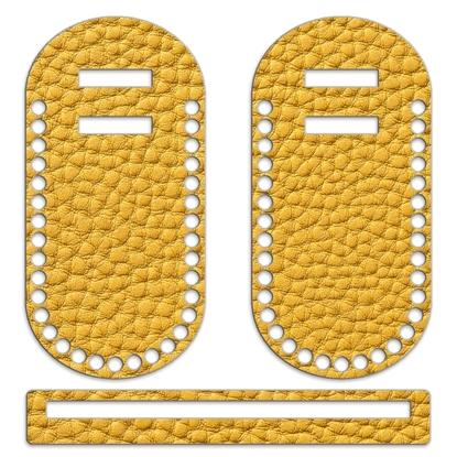 картинка каркас из фанеры с ярким принтом для вязания летних сумок, цвет: карри, яркая горчица