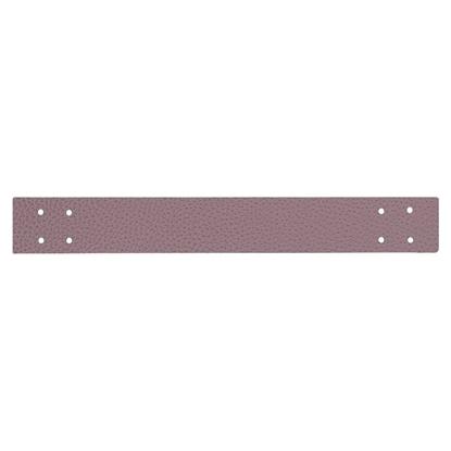 картинка ручка из экокожи для вязаных интерьерных корзин, цвет: черничный мусс