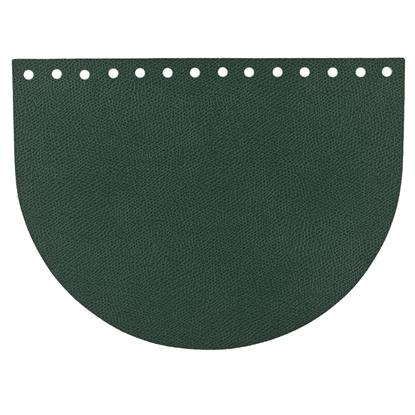 картинка крышка клапан овал из экокожи для вязания сумок из пряжи и шнура, цвет: зеленый , авокадо