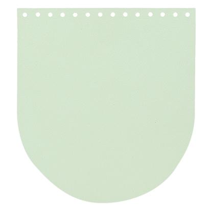 картинка  кожаная крышка -клапан  для  вязаного рюкзака из трикотажной пряжи, размер  20х22см, цвет: мята в наличии