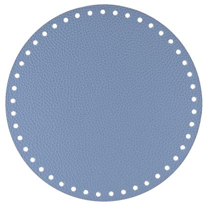 картинка фурнитура Marmelatta круглое донышко 20см , цвет: джинс для вязания сумок и рюкзаков