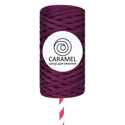 картинка полиэфирный шнур Карамель (Caramel) 5мм, цвет: слива с доставкой по Москве